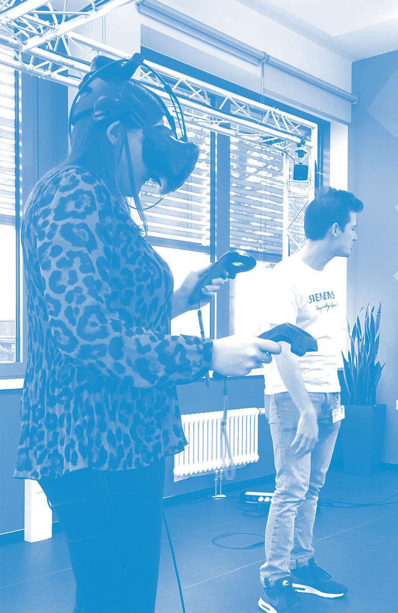 BayFiD - Das erwartet dich (dekoratives Bild einer Frau mit Virtual Reality Brille)