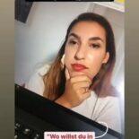 """Screenshot einer Instagram Story: Im Hintergrund ein Laptop mit Tijen Onaran auf dem Bildschirm - im Vordergrund der Text """"@bayfid_ Personal Branding-Workshop mit @tijen.onaran"""""""