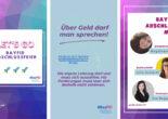 Verschiedene Screenshots von Instagram Stories der BayFiD Teilnehmerinnen