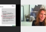 Screenshot des virtuellen Workshops zeigt einen Vortrag