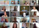 Screenshot des virtuellen Workshops, der einige Teilnehmerinnen zeigt